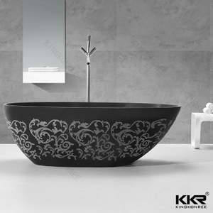 Bathtub with carve patterns KKR-B068-A